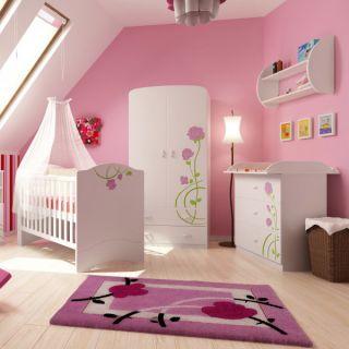 habitación bebé color rosa