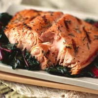 Smoked Salmon with Apple Glaze