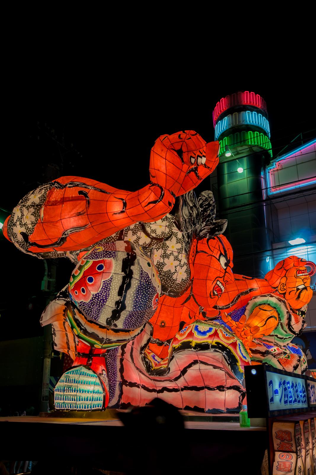 立川、羽衣ねぶた祭 ねぶたの写真