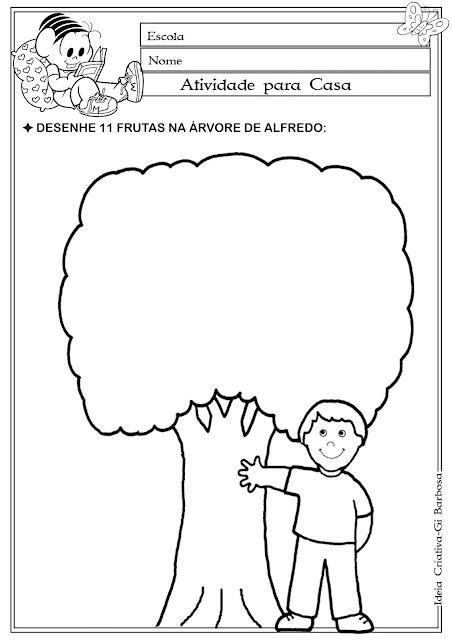 Atividade Numeral 11 / Dia da árvore