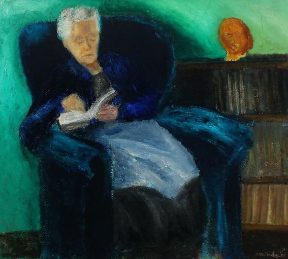 Jens Søndergaard. Interior with Artist's Mother, 1942