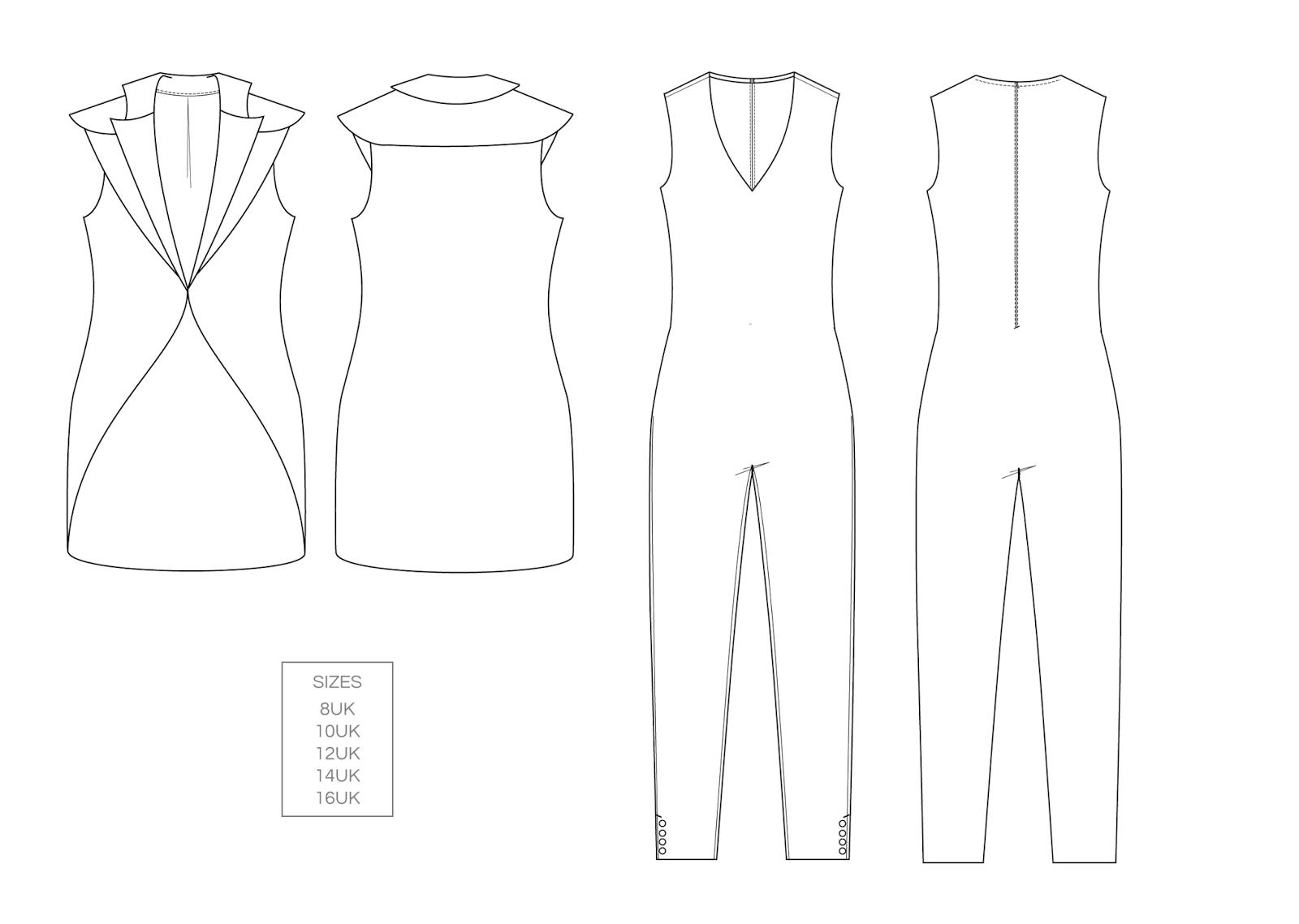 Susanne Postill - technical fashion design portfolio