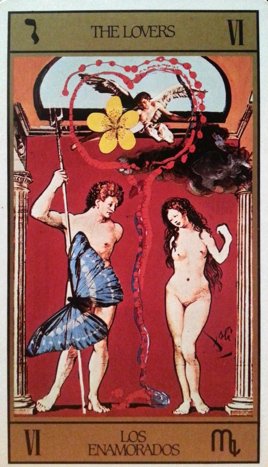 Los Enamorados- Tarot Dalí