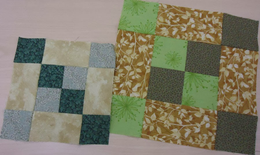 First set of blocks for the quilt