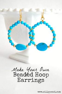 DIY Beaded Hoop Earrings Tutorial