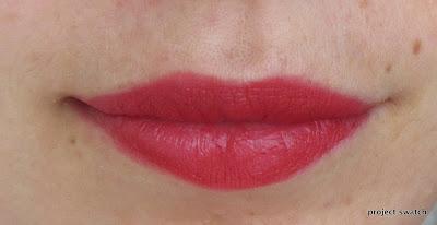 NARS Vesuvio matte lipstick swatch