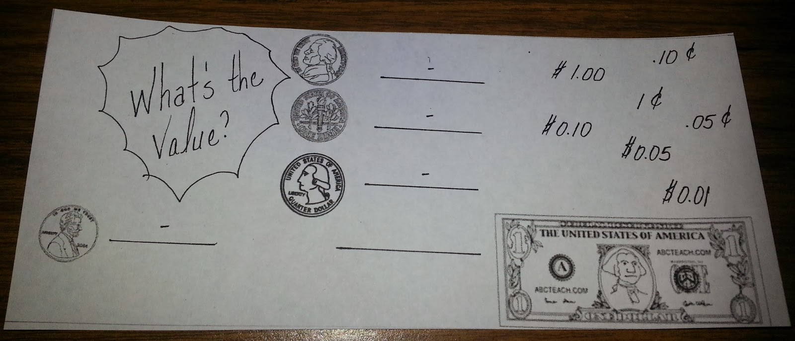Ideas for money counts daisy leaf