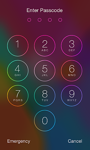 enter passcode iphone