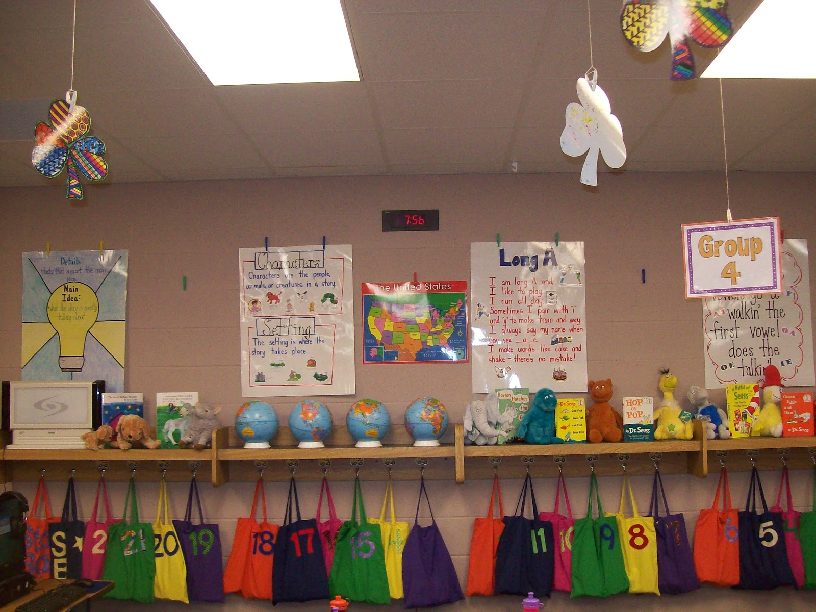 Classroom Hanging Ideas ~ Teaching with terhune storing and displaying anchor charts