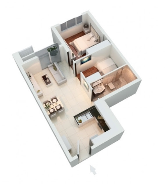 Mặt bằng căn hộ The Park Residence Apricot 62 m2