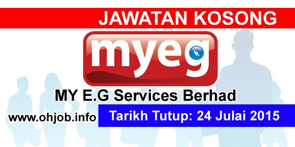 Jawatan Kerja Kosong MY E.G Services Berhad (MYEG) logo www.ohjob.info julai 2015