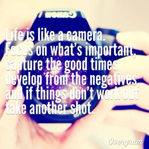 Life is like a camera, develop from the negatives, The Friendly, Bunch Blog Hop, TFBBH
