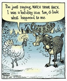 thanksgiving comic, thanksgiving cartoon, turkey and donkey