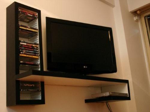 Sistemas modulares mesa flotante para lcd dvd play con - Mueble para dvd ...