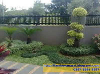 Tukang Taman Surabaya Taman Minimalis Depan Pagar