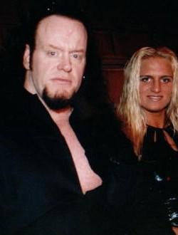 Karen Jarrett Wedding The Undertaker with hi...