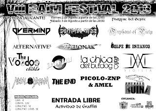 Ayuntamiento de Novelda cartel+raim+8 RAÏM FESTIVAL 2013