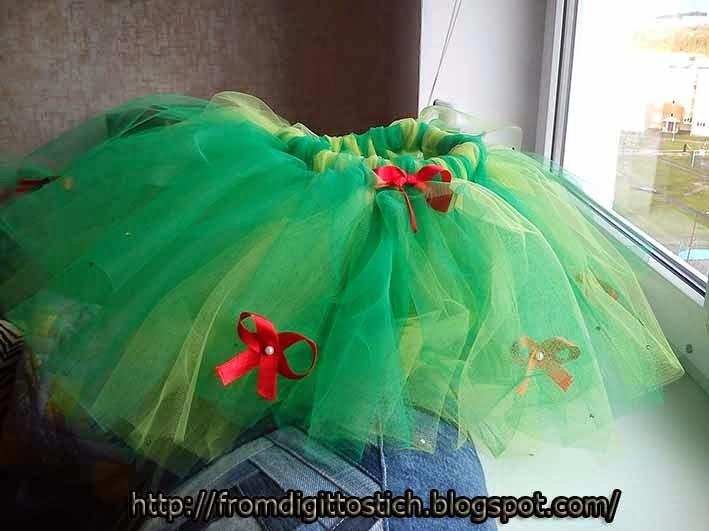 Новогодняя юбка из фатина