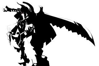Black Rock Shooter Black Gold Saw Anime Horn Arm Guard Sword Girl HD Wallpaper Desktop Background