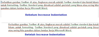 increase indentation
