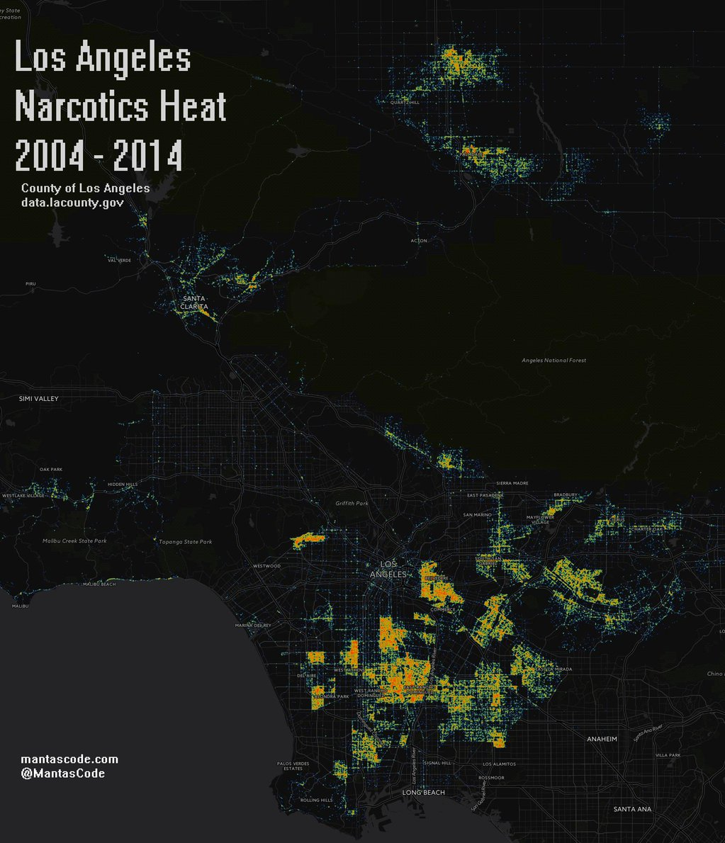 Los Angeles narcotics heat (2004 - 2014)