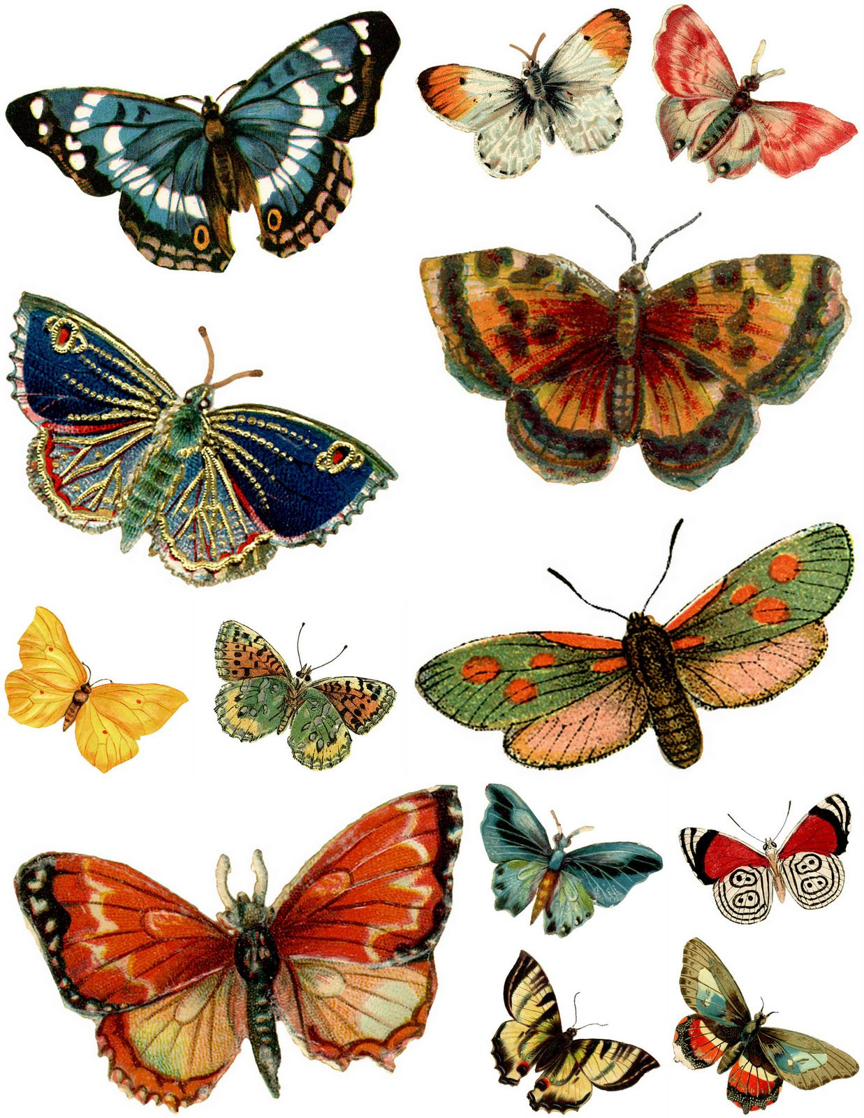 free vintage butterfly clipart - photo #24