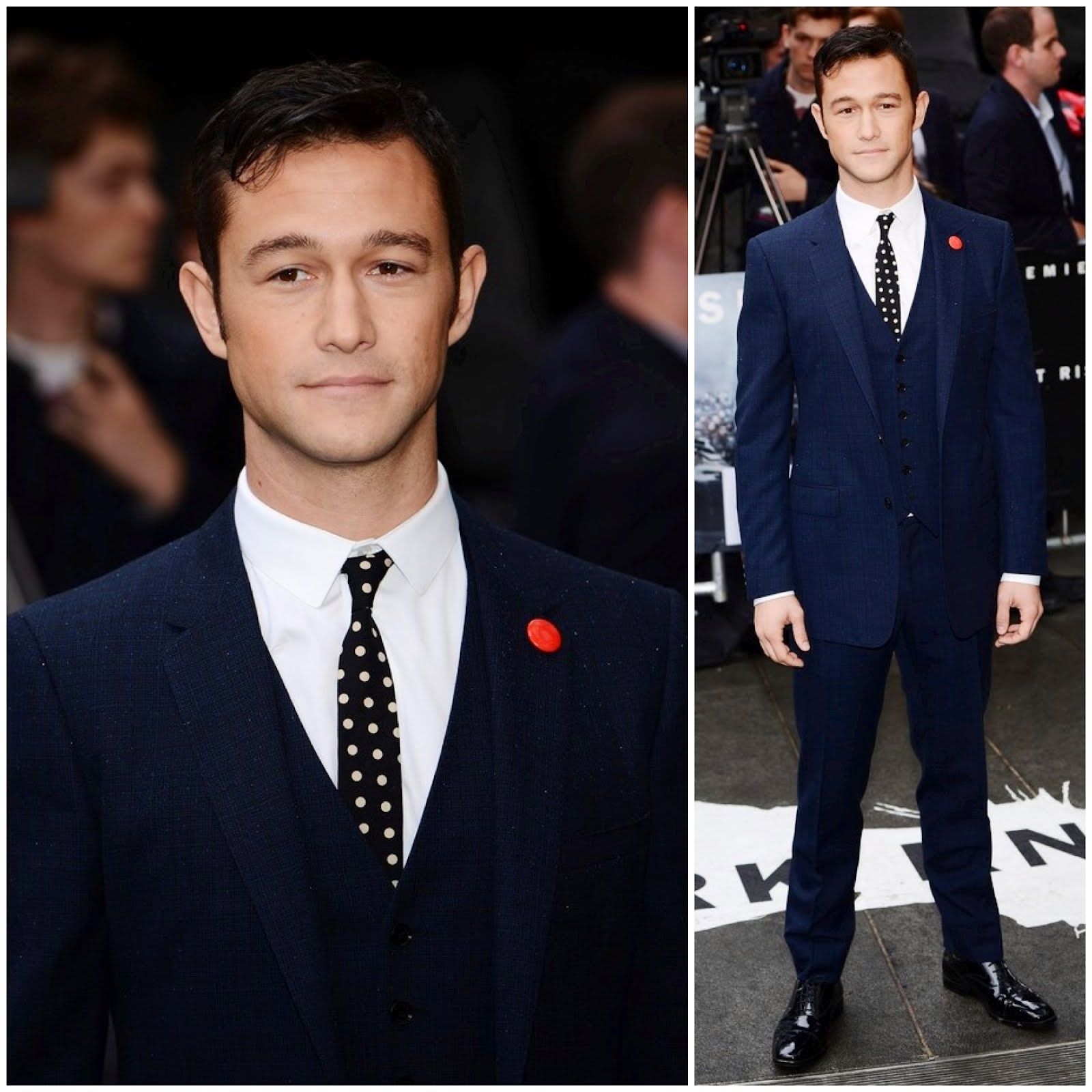 00O00 London Menswear Blog celebrity style Joseph Gordon-Levitt in Burberry - The Dark Knight Rises London premiere
