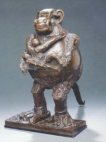 Sculptures - Page 4 Picasso+-+La+guenon+et+son+petit+1951