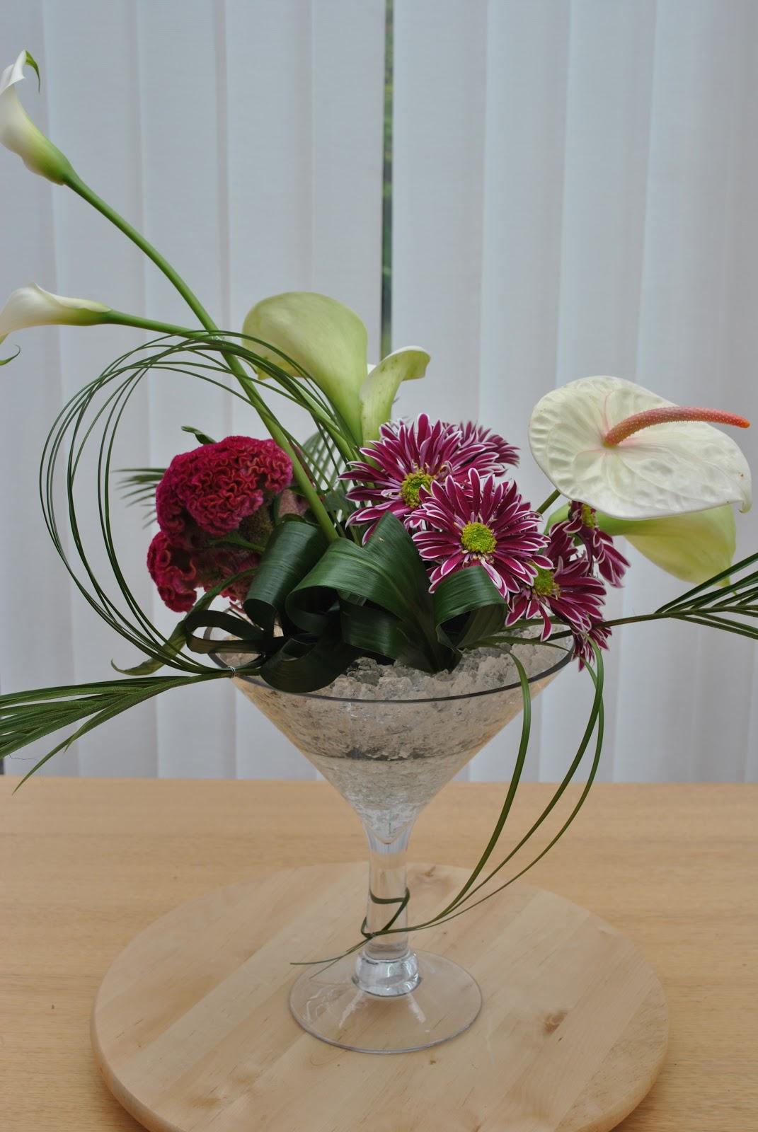 Lucy s flower studio martini glass