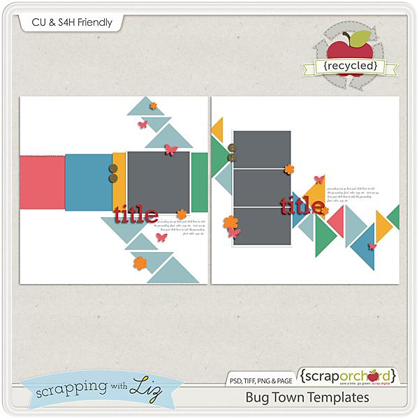 http://scraporchard.com/market/Bug-Town-Digital-Scrapbook-Templates.html