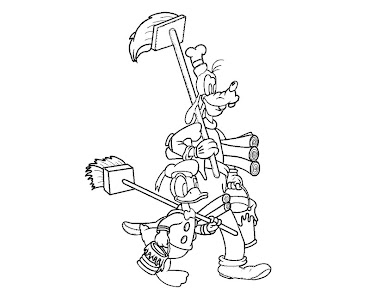 #5 Goofy Coloring Page