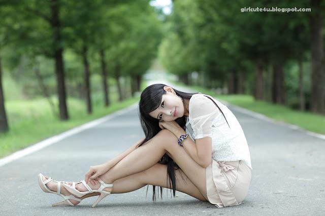 10 Cha Sun Hwa-Ruffle Mini Dress-very cute asian girl-girlcute4u.blogspot.com