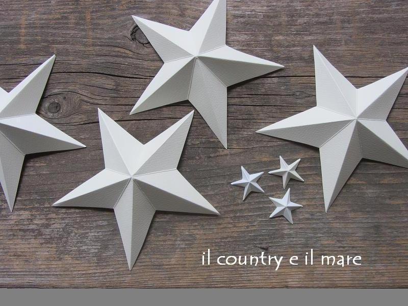 Il country e il mare stelle tridimensionali tutorial for Stelle di carta tridimensionali