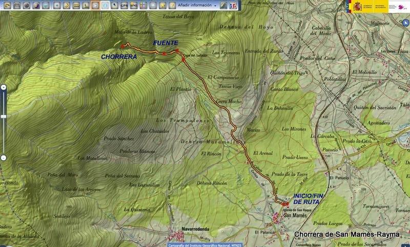Chorrera de San Mams Sierra Norte de Madrid 81212  Tras los