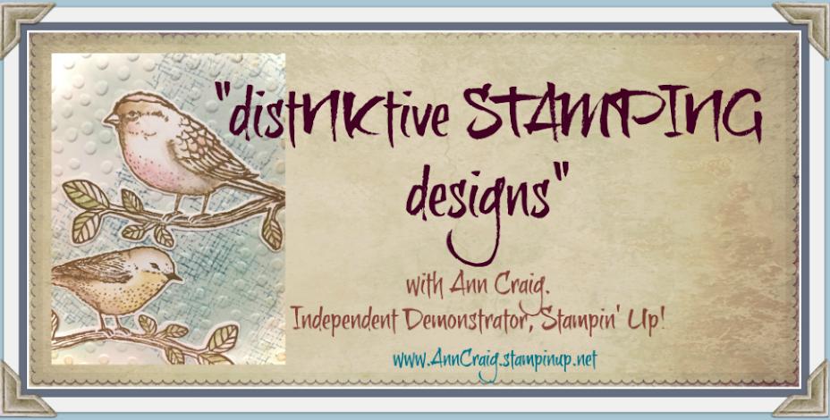 Stampin' Up!® Australia: Ann Craig - distINKtive STAMPING designs