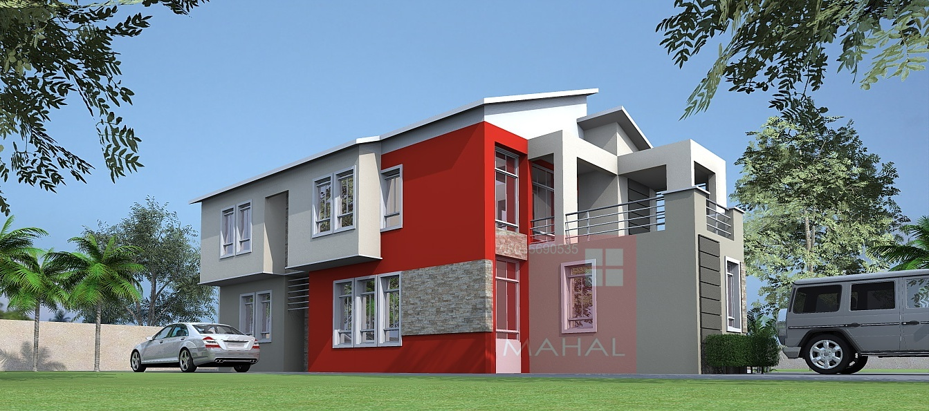 Contemporary Nigerian Residential Architecture Prest: 4 bedroom maisonette