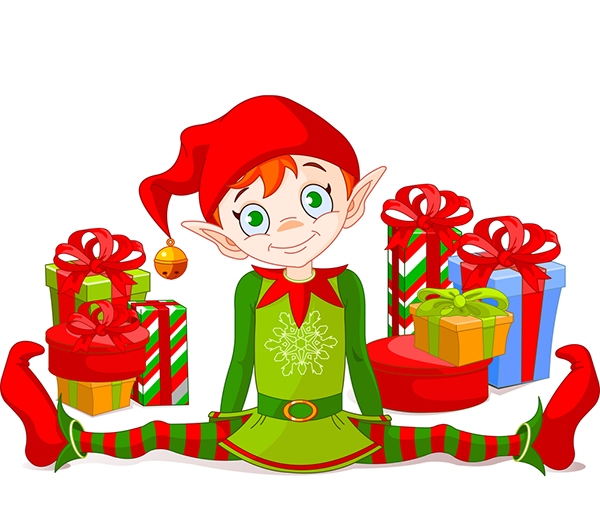 Elf with gifts