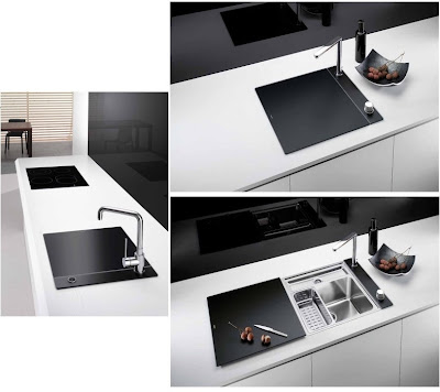 modern kitchen sink design with cover