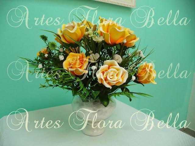 Como fazer flor em E.V.A - Arranjo de flores