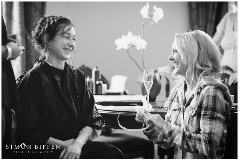 Bridal preparations Bailbrook House wedding
