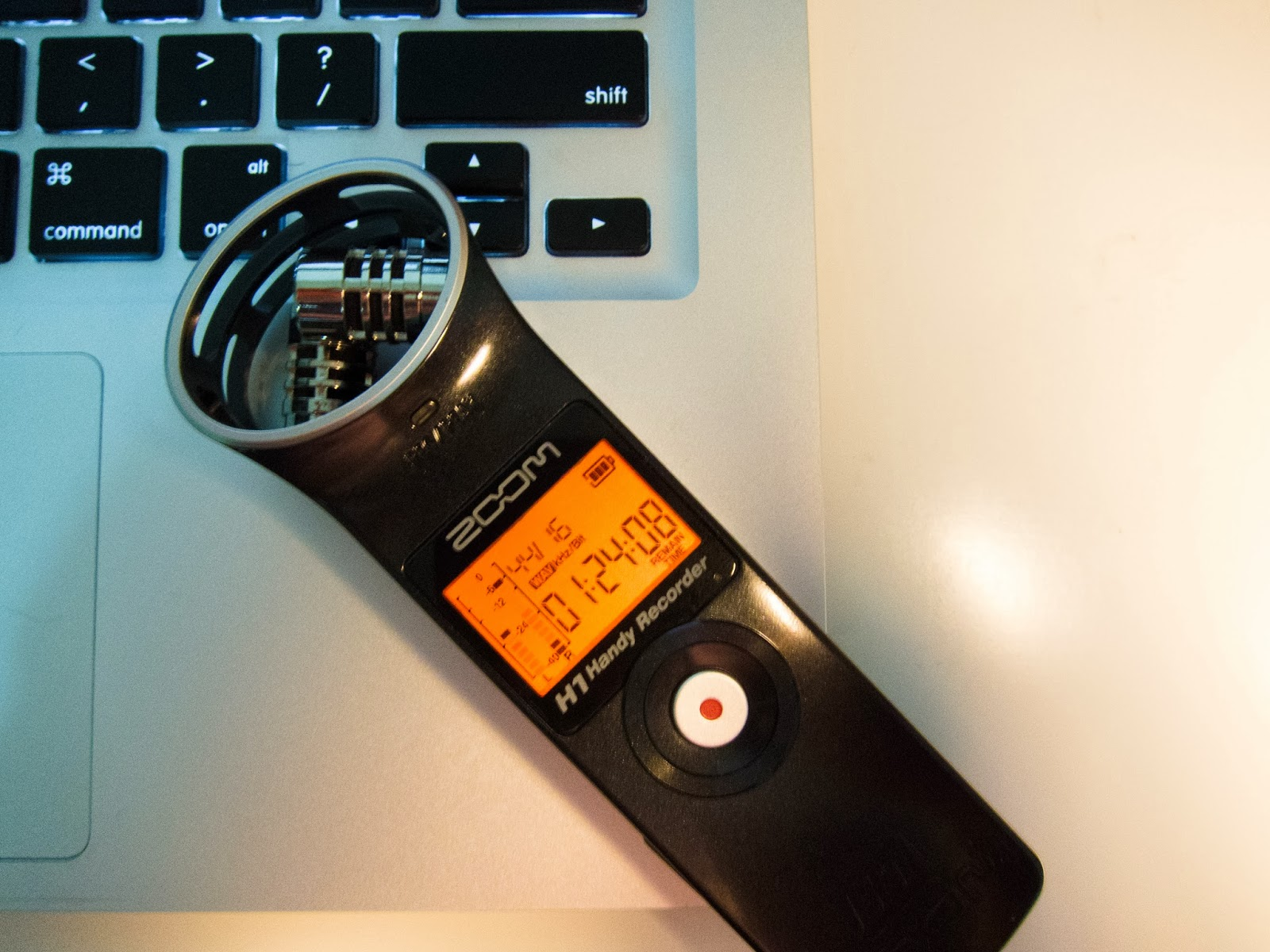 photo of a voice recorder