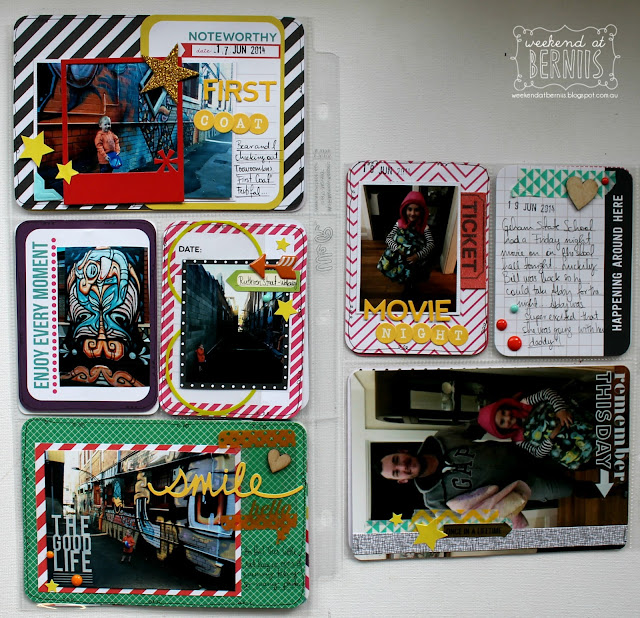 Project Life week 25 by Bernii Miller using the Confetti Core Kit.