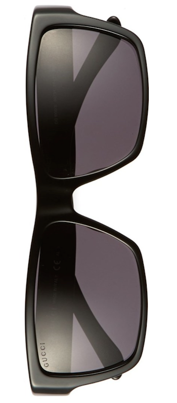 Gucci 57mm Polarized Sunglasses