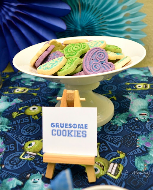 Monsters University lunchtime table gruesome cookies