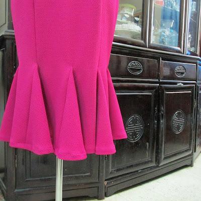 Darlene made this: Fit & Flounce Jersey Dress by Burda