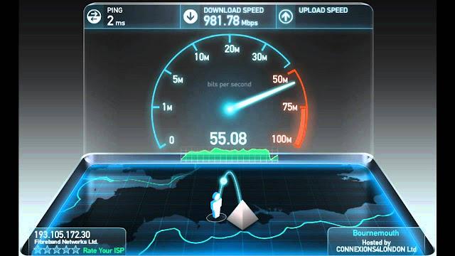 أحصل على انترنت يصل الى 900 mp/s مجانا