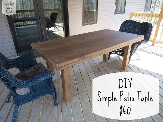 let 39 s just build a house diy simple patio table details