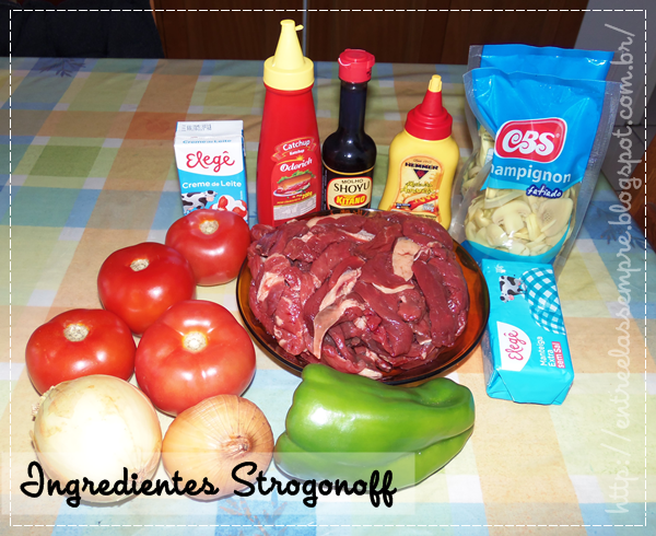 Ingredientes do Strogonoff
