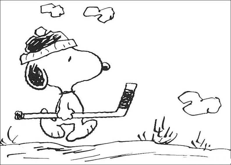 coloring pages of cartoon snoopy - photo#26