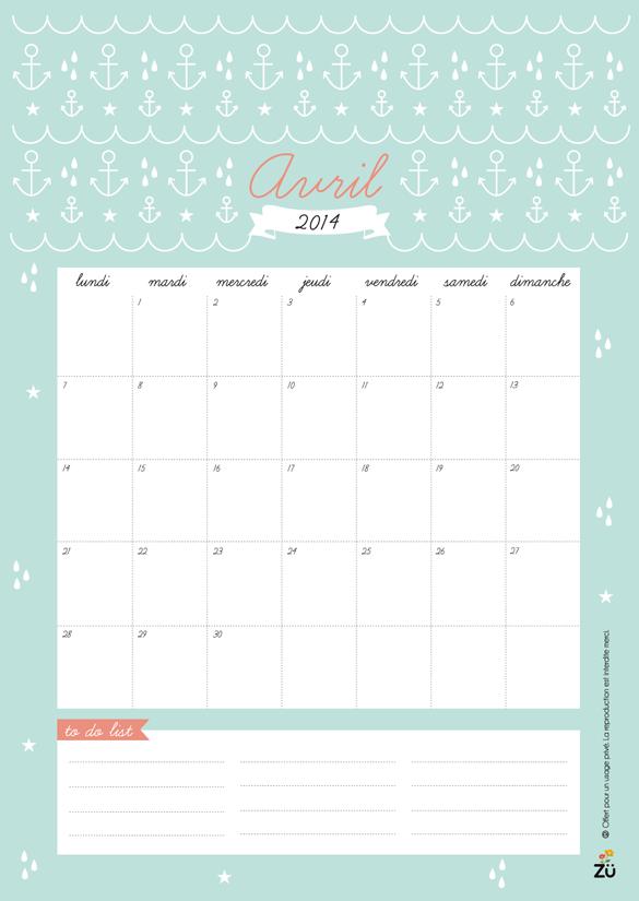 Calendar Zu : Hello april free printable and desktop wallpaper